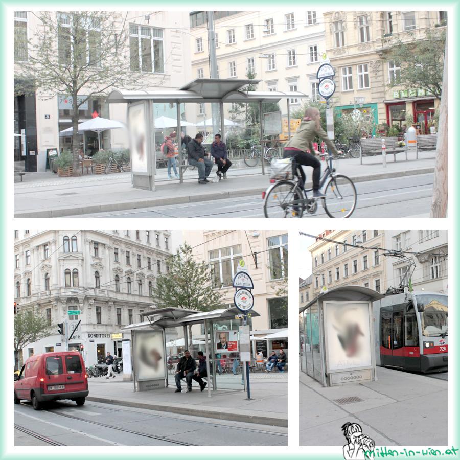 Die Bimstation 49 am Siebensternplatz.
