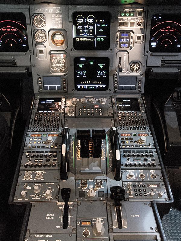 Cockpit der A380