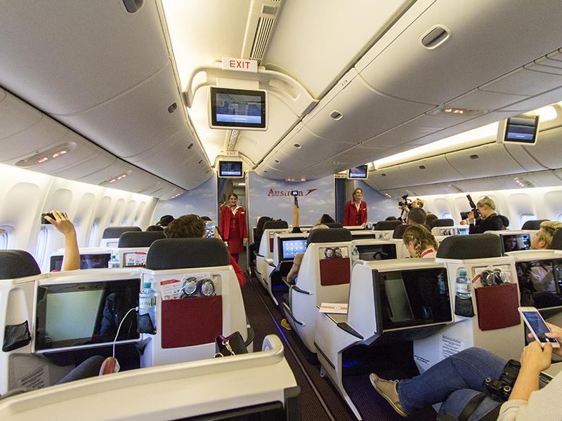Die Business Class der Boeging 777