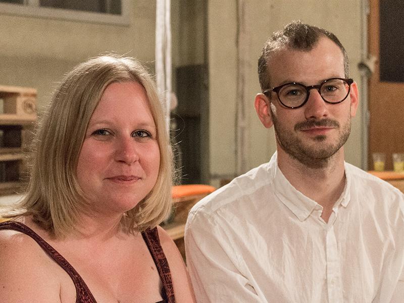 Melanie Wimmer mit Philipp Oberlohr