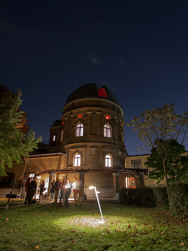 Heliometertrakt in der Kuffner Sternwarte
