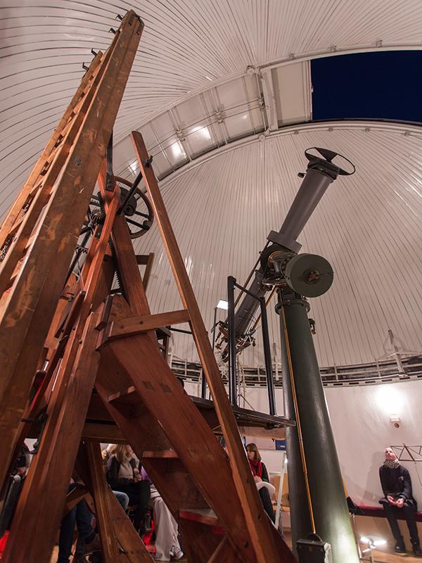 Das 1893 erbaute und noch immer voll funktionsfähige Heliometer