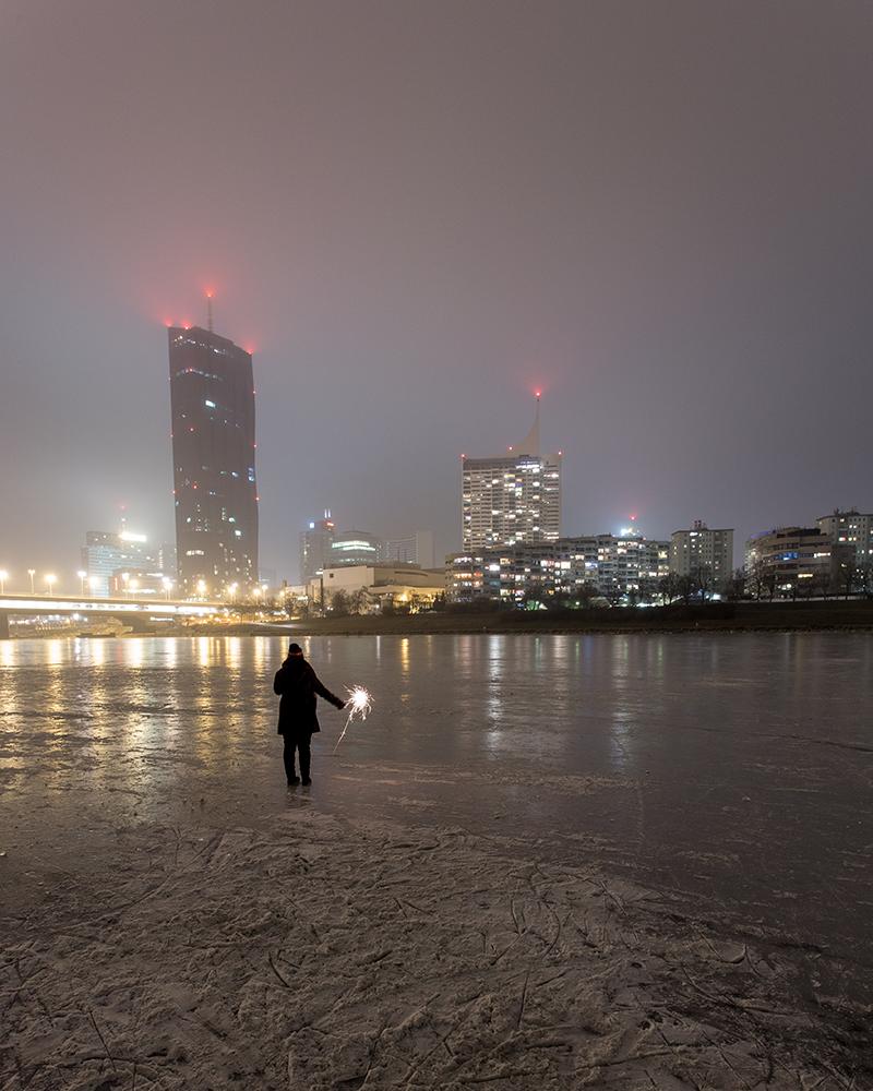 Jänner 2017: Die Donau ist zugefroren! Mit @miss.elusivo